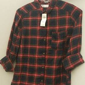 A Boyfriend fit Hollister plaid shirt